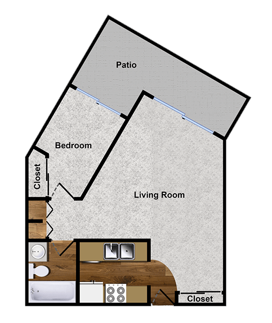 1-Bedroom apartment for rent in Walnut Creek, CA